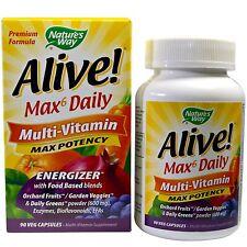 Nature's Way con vida! Max6 al día Multi-Vitamina - 90 Vcaps-Max potencia