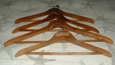Vintage Wooden Clothes Hangers With Bar For Pants 4 pcs.