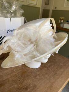 LADIES FORMAL CREAM JOHN LEWIS HAT WEDDINGS FORMAL OCCASIONS