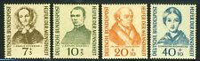 """1955 Germany MNH OG complete Semipostal set of 4 ' Humanitarians"""" Mi # 222-225"""