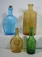 Bottles Wheaton Glass Lancaster Bitters Amber Horseshoe Blue Green Lot of 4 Vase