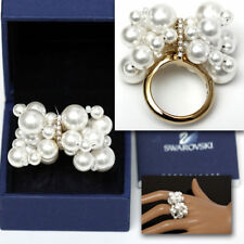 SWAROVSKI Ladies DIAMOND CRYSTAL / PEARL RING w/ Certificate (8)