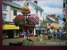 POSTCARD DEVON SIDMOUTH -HIGH ST - SWEET TEMPTATIONS SHOP & OTHERS