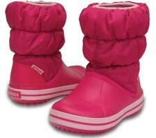 f973e76549d3 Crocs 3466 Girls Winter Puff Pink Quilted Snow BOOTS Shoes 1 Medium (b M)