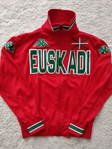 Kappa Euskadi Bilbao Vintage Womens Track Jacket Sweatshirt Red Hype Jumper Logo