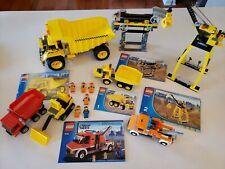 Lego City Construction Site 7243 Dump Truck 7344 Tow Truck 7638 Road Set 6187