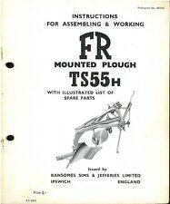 RANSOMES ts55h ARATRO operatori manuale