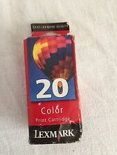 LEXMARK 20 color ink cartridge 15m0120 Unopened