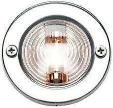 "BOAT MARINE 3"" Diameter Stainless Steel Round Transom Mount Navigation Light"