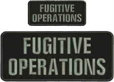 FUGITIVE OPERATIONS EMB PATCH 4X10 AND 2X5 HOOK ON BACK blk/gray
