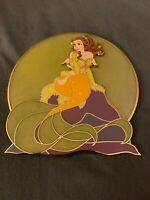 Disney Fantasy Pin Belle Mermaid Moon Jumbo Pin LE 25 Beauty & The Beast