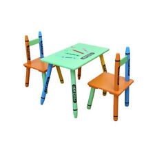 Bebe Style Childrens Wooden Table and Chair Set Activity Eat Play Nursery