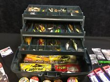 Plano Tackle Box Loaded Vintage Fishing Lures.