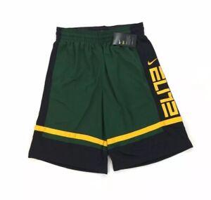 NEW Nike Dri-Fit Elite Basketball Gym Loose Fit Shorts Green Yellow Mens Sz M L