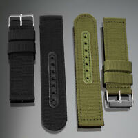 INFANTRY 20/22mm Nylon Canvas Watch Band Strap Military Tactical Army Buckle