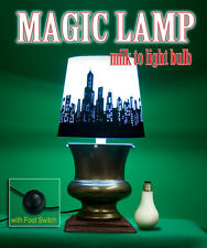MAGIC LAMP MILK TO LIGHT UP BULB Stage Magician Vanishing Appearing Foot Switch