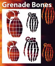 airbrush stencil Grenade Bones Template Stencils Spray Vision