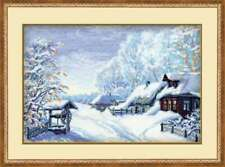Russian winter set for cross stitch embroidery Riolis 989 (38*26)