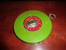 Vintage Martin Green  100ft / 30m Fiberglass Measuring Tape - used - LQQK