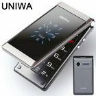 "Unlocked Uniwa 2.8"" Folding Dual Screen Dual Sim Flip Push-button Mobile Phone"