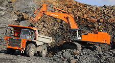"HITACHI 870 EXCAVATOR TRACK HOE & MINE ROCK TRUCK LARGE 43""x 24"" MINING POSTER"