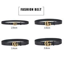 Ladies Men Genuine Leather Belts Jeans G Belt With Letter Buckle UK