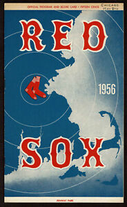 1956  BOSTON RED SOX vs CHICAGO WHITE SOX  baseball program