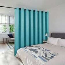 Room Divider Dorm Dining Room Privacy Curtain Screen Blue Blackout Window Panel