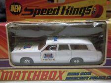 Matchbox Speed Kings K23 Mercury Commuter Police Car in Box