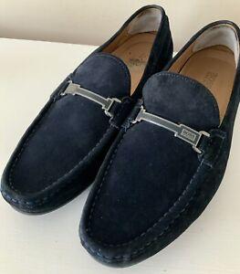 Mens Hugo Boss Blue Suede Loafers Size 9 UK