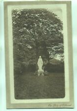 Statue Our Lady of Oakwood Hall Romiley Stockport 1900s postcard