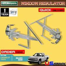 2 Power Window Regulator w/ Motor for Colorado GMC Isuzu Front L+R 741014 741015