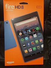 "Amazon Kindle Fire HD8-""New 2018"" 16GB HD Tablet ""Custom Case"" Plus More-RRAM"