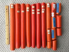 Z-811 Opaque Light Orange Zimmermann Color Rods for Glass blowing.