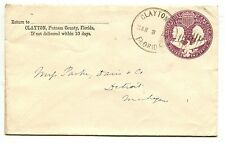 CLAYTON FL MAR 8 1894 2 ct Columbian PSE to Detroit Michigan