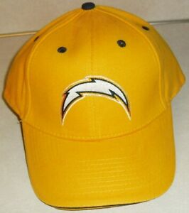 San Diego Los Angeles Chargers 90s Adjustable All Yellow strapback hat New NFL