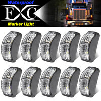 10X 10V-30V White Clearance Lights Side Marker LED Trailer Truck Caravan Lorry