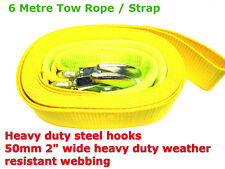 6 Metre long Tow / Towing Pull Rope/Strap Heavy Duty Road Recovery Car Van 4x4