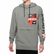 MISHKA Death 2003 Sport Cloak Hoodie Hoody Grey Black Red MNWKA Mens Sz S Small