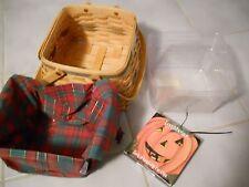 Longaberger Christmas Collection Basket + plastic liner & Holiday Liner
