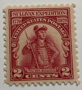 ODZ & ENDZ 25 MH-VG - 2¢ - SCOTT#: 657 - MAJ. GEN. JOHN SULLIVAN 1659