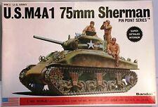 Bandai #8282 1/48 scale WWII US Army M4A1 75 mm Sherman Tank NIB Rare