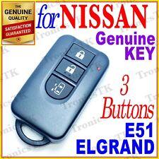 NISSAN ELGRAND SMART KEY / INTELLIGENT KEY / 3 BUTTONS - E51 SERIES - 01