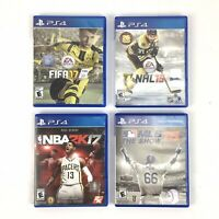 4 Sony PS4 Games NBA 2K17, MLB The Show 15, NHL 15, FIFA 17