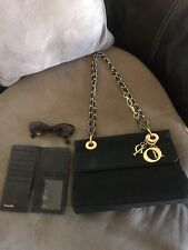 Vintage Authentic Christian Dior Hand Bag + Christian Dior Wallet + Sunglasses