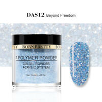 10ml BORN PRETTY Glitter Acrylic Powder Blue French Tips Nail Art Decoration