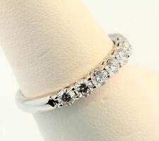 Tiffany & Co Embrace 3mm Shared Setting Diamond Ring Sz 6.5 Retail $5688 w Tax