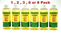 Vitamin E Beauty Oil Spa Naturals For Smoother Softer Skin 4 ounce (Made In USA)