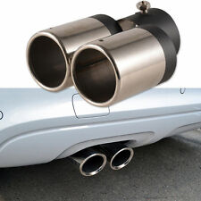 Car Exhaust Pipe Tip Muffler Vehicle Stainless Steel Chrome Y-Pipe Dual Pipes