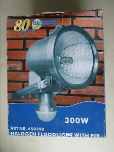 300W Halogen Flutlicht-Strahler Bewegungsmelder Edelstahl, Außenlampe,Floodlight